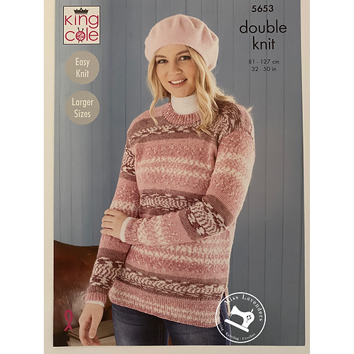 King Cole Adults Sweater and Tunic DK Fjord  - 5653