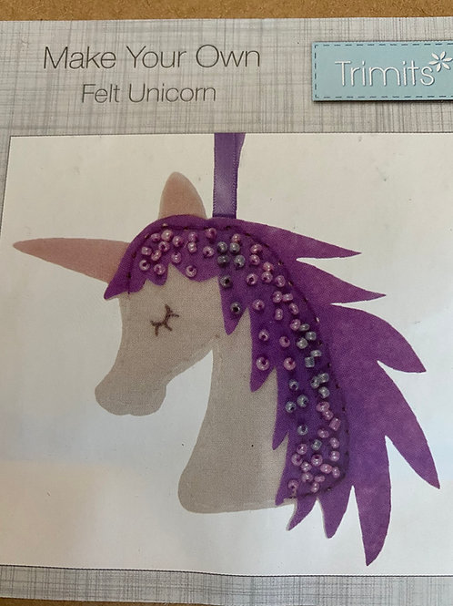 Unicorn Felt Kit - Ideal for Decoration