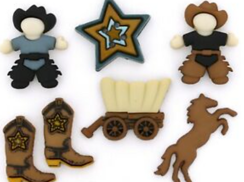 Dress it up Buttons - Howdy Partner 5804 - Childrens/Craft/Fun