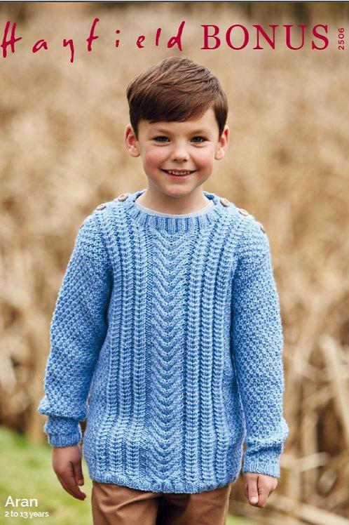 Sirdar/Hayfield Childrens - Aran  Sweater -2506