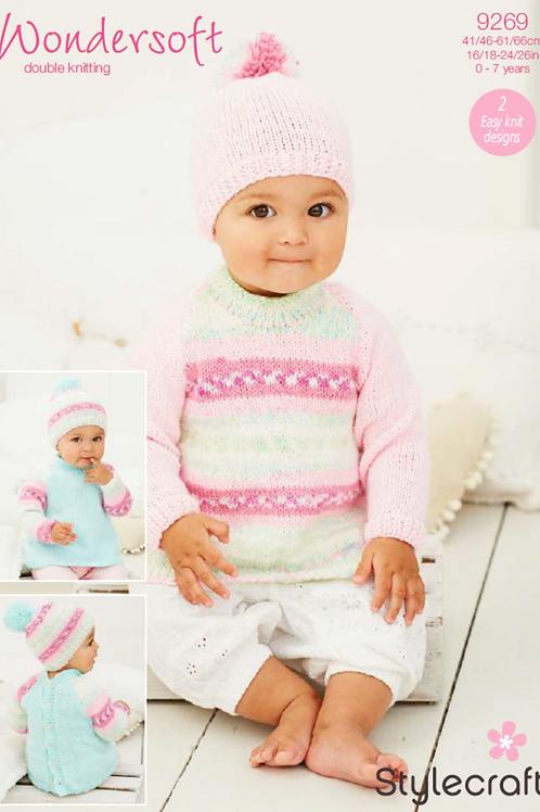 Stylecraft Babies - Sweater and Hat  DK - 9289