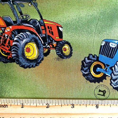 Tractor Time Fabric