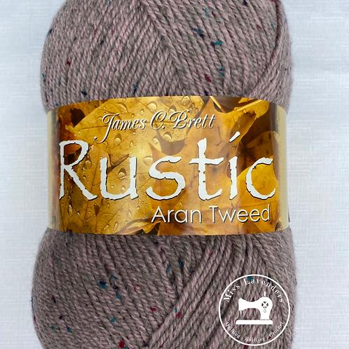 James C Brett Rustic Aran with Wool 400g -  Pink Tweed DAT39