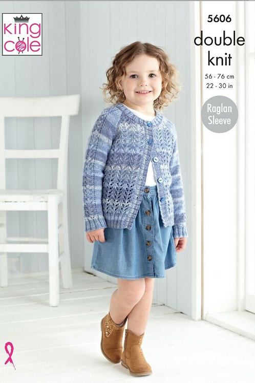 King Cole Childrens - Beaches DK  Cardigan and Sweater - 5606