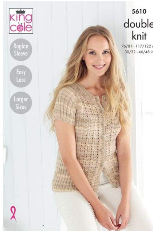 King Cole Adults Sweater and Cardigan DK - Island Beaches - 5610