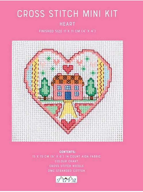 Counted Cross Stitch Mini Kit - Heart