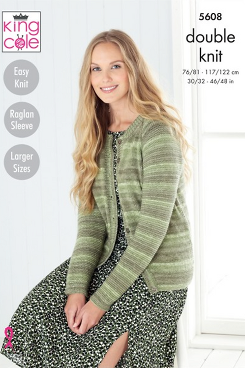 King Cole Adults Sweater and Cardigan DK - Island Beaches  - 5608