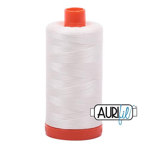 Aurifil 50/2 Chalk, Cream Thread, 2026