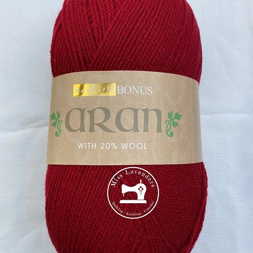 Sirdar Hayfield Bonus Aran 400g - Deep Red - 830