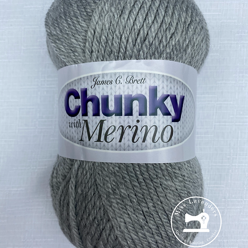 James C Brett Chunky with Merino Grey CM21