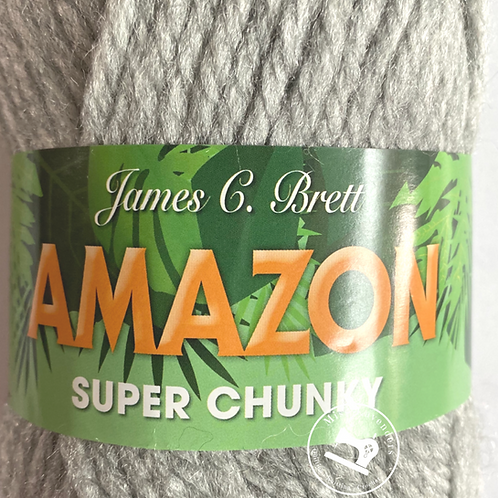 James C Brett Amazon Super Chunky J9 Silver