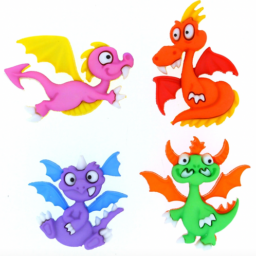 Dress It Up Buttons - Dragon Tale - 8299 -  Childrens/Craft