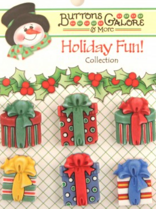 Buttons Galore - Christmas Presents  CM07 - Childrens/Craft Button