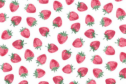 Makower Strawberrys Fabric