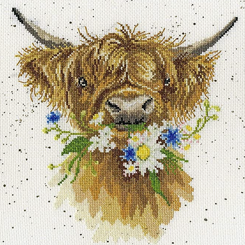 Bothy Threads Daisy Coo Cross Stitch Kit - 26cm x 26cm