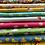 Thumbnail: Makower Spring Flowers - Turquoise Fabric