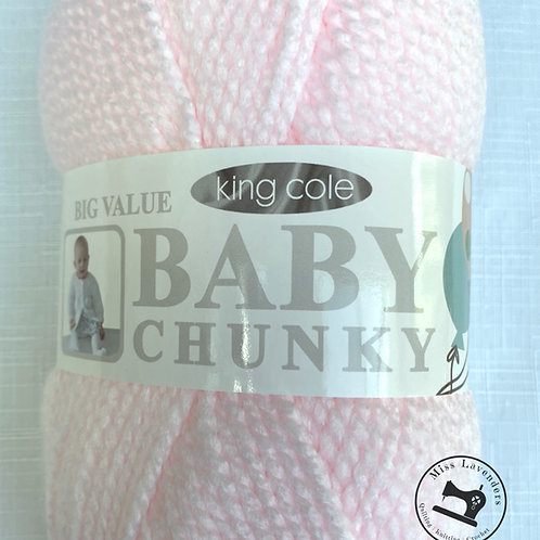 King Cole Big Value Baby Chunky Soft Pink
