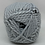 Thumbnail: King Cole Timeless Chunky Chandelier Grey 2914