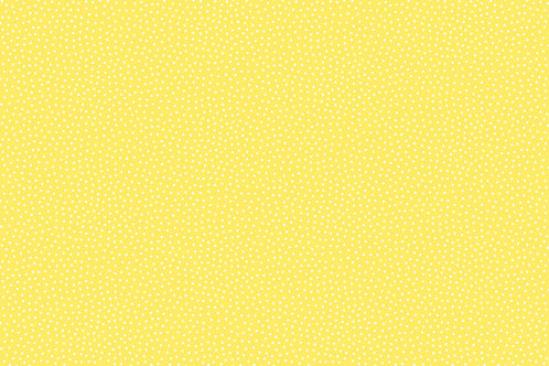 Makower Sunny Bee - Seed Dot Yellow Fabric