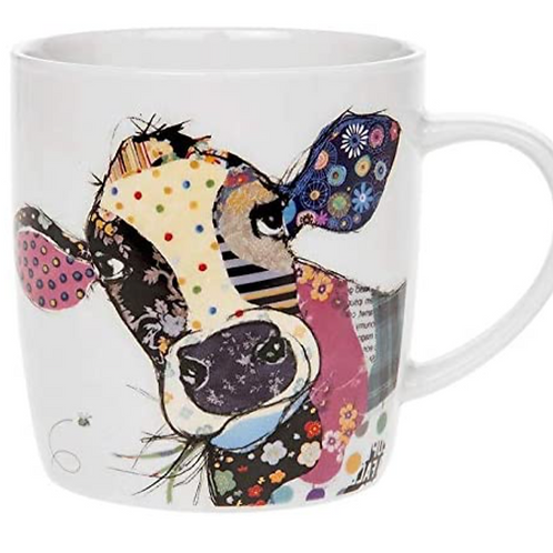Bug Art Collection Kooks Connie Cow Fine China Mug Gift Boxed