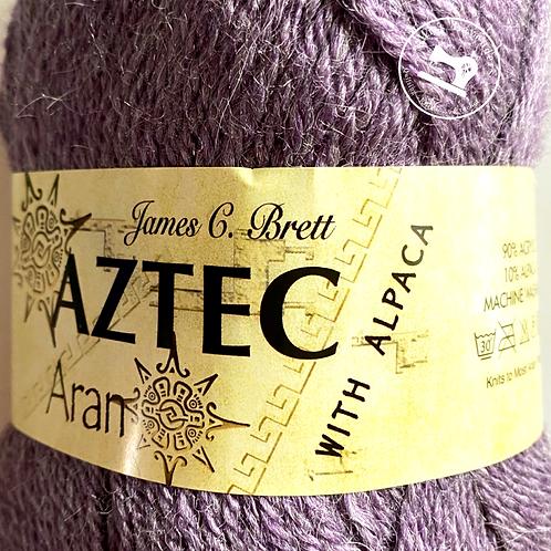 James C Brett Aztec Aran with Alpaca Purple AL05