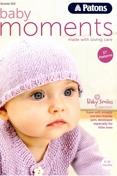 Patons Baby Moments Book 002 - 27 Knitting and Crochet Patterns