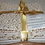 Thumbnail: Christmas Fat Quarter Pack - John Louden Cotton White/Gold  5 Pack