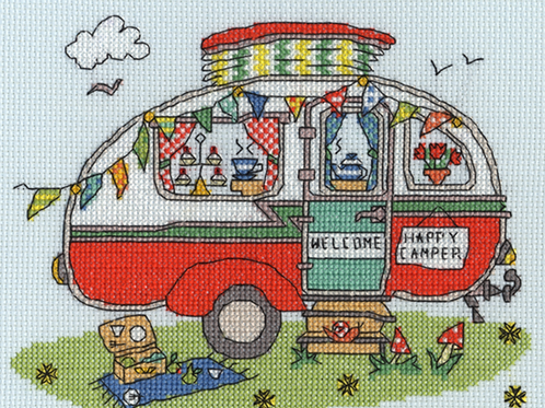 Bothy Threads Sew Dinky Caravan  Cross Stitch Kit