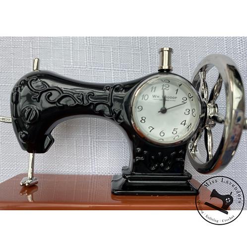 Sewing Machine Miniature Clock