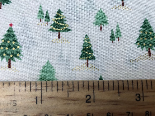 Makower Mini Trees Fabric - Christmas