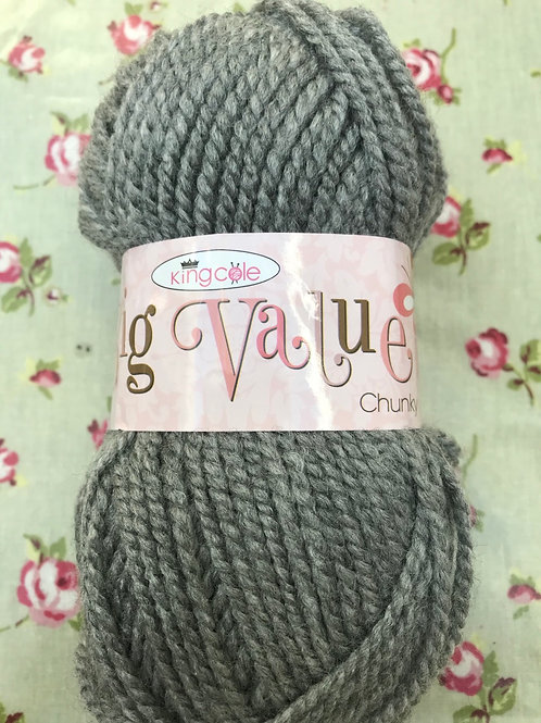 King Cole Big Value Chunky Grey 547