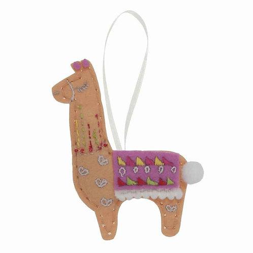 Make Your Own Llama Felt Kit