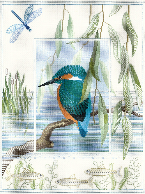 Cross Stitch Kit  Kingfisher