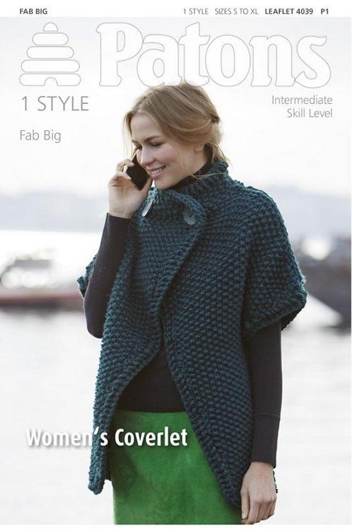 Patons Ladies Coverlet - 4039