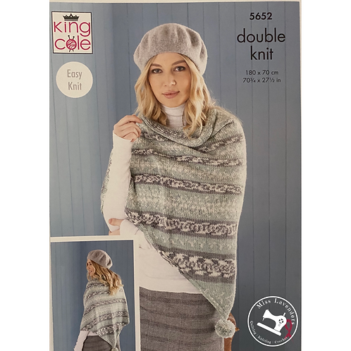 King Cole Poncho, Snood and Shawl DK Fjord  - 5652