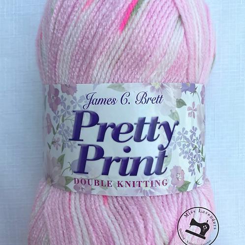 James C Brett Pretty Print DK  Bright Pink P02