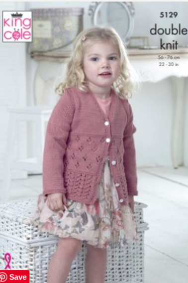 King Cole 5129  Childrens Cardigan