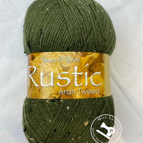 James C Brett Rustic Aran with Wool 400g - DAT14 Green
