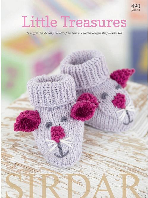Sirdar Little Treasures Double Knitting Pattern Book -17 Designs - 490