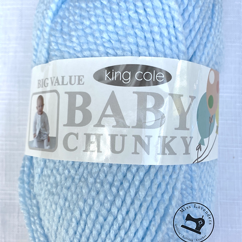 King Cole Big Value Baby Chunky Soft Blue