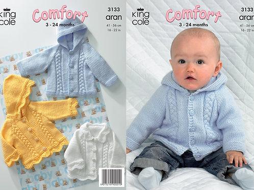 King Cole Babies/Childrens Jackets Aran - 3133