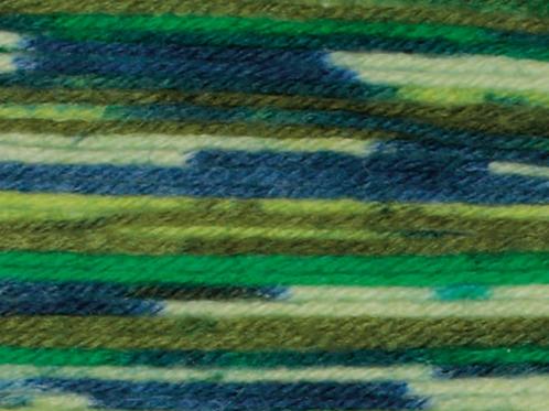 James C Brett Funny Feetz 100g 4ply Sock Wool - Greens FZ05
