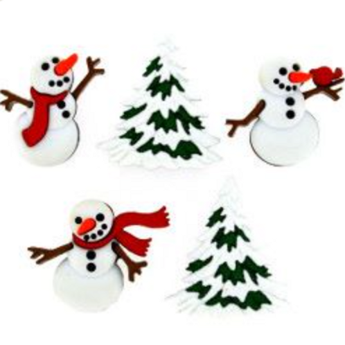 Dress it up Buttons - Let it Snow 9072 - Childrens/Craft Buttons