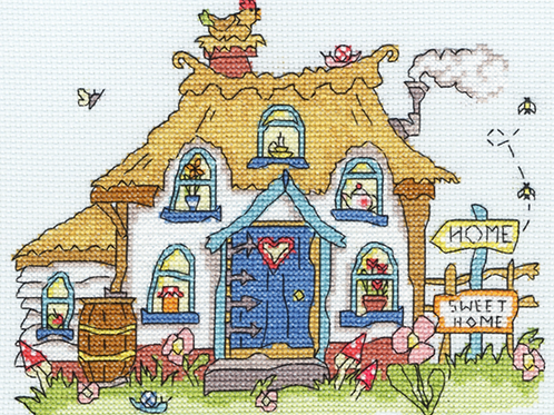 Bothy Threads Sew Dinky Cottage -  Cross Stitch Kit