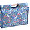 Thumbnail: Knitting or Craft Bag with Wooden Handles: Garden Blueberry