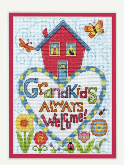 Counted Cross Stitch Kit by Dimensions: Grandkids Always Welcome