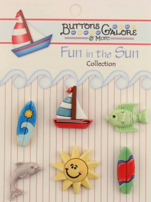 Buttons Galore - Surf's Up FN109 - Childrens/Craft Button