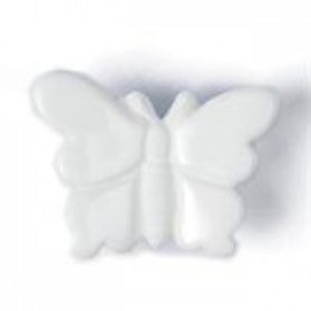 White Butterfly 18mm Shank Button