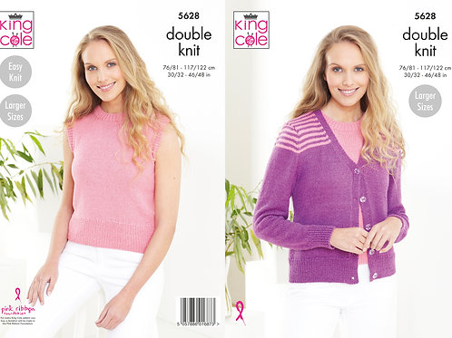King Cole Adults Cardigan and Sweater - DK - Knitting Pattern -5628