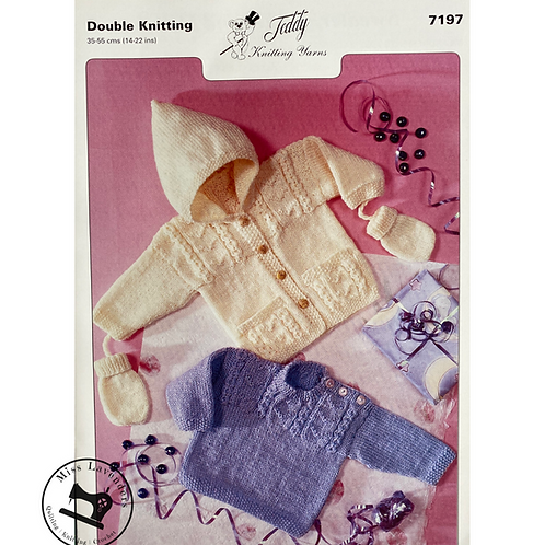 Teddy Baby/Childrens Cardigan and Sweater DK -7197